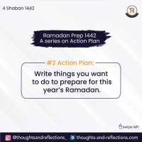 *#2 Action Plan: Write things you want to do to prepare for this year's Ramadan.